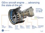 genx aircraft engine advancing the state of the art