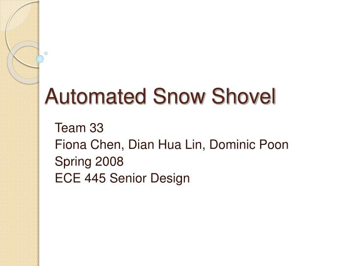 automated snow shovel n.