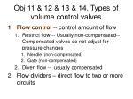obj 11 12 13 14 types of volume control valves