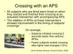crossing with an aps