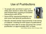 use of pushbuttons