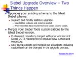 siebel upgrade overview two things happen