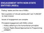 engagement with non state entities nses