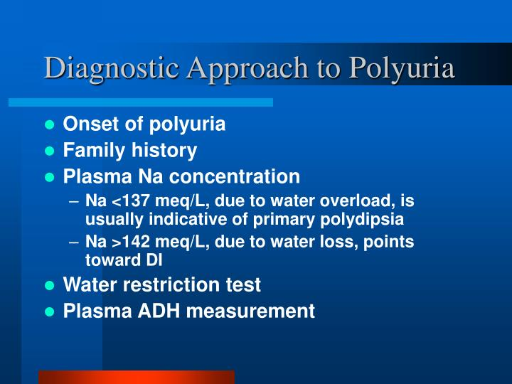 Diagnostic Approach to Polyuria
