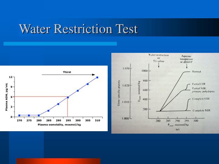 Water Restriction Test