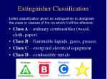 extinguisher classification