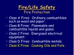 fire life safety fire protection