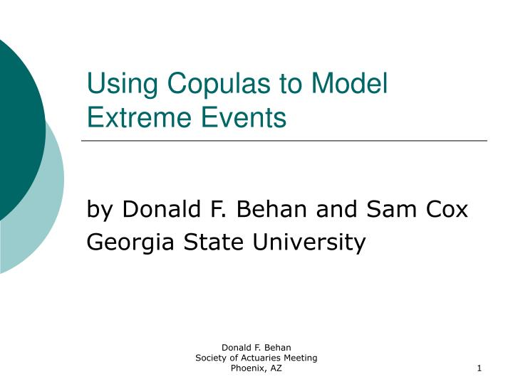 using copulas to model extreme events n.