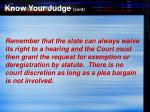 know your judge cont