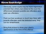 know your judge