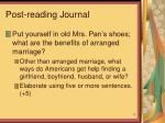post reading journal