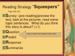 reading strategy squeepers
