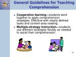 general guidelines for teaching comprehension