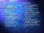 structure of the comedy