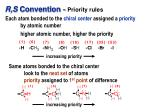 r s convention priority rules
