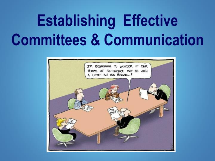 establishing effective committees communication n.