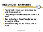 decorum examples