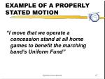 example of a properly stated motion