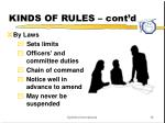 kinds of rules cont d1