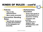 kinds of rules cont d2