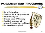 parliamentary procedure1