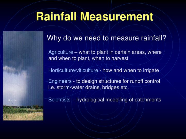 rainfall measurement n.