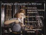 putting it all together in psy100