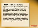 nfpa 12 marine systems
