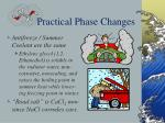 practical phase changes