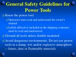 general safety guidelines for power tools1