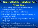 general safety guidelines for power tools4