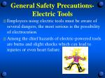 general safety precautions electric tools