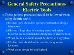 general safety precautions electric tools3