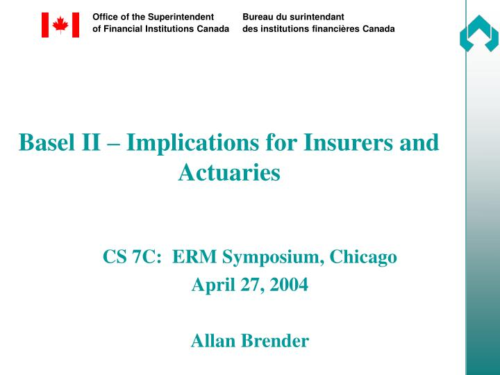 basel ii implications for insurers and actuaries n.
