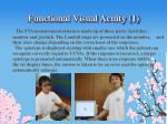 functional visual acuity 1