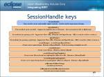 sessionhandle keys