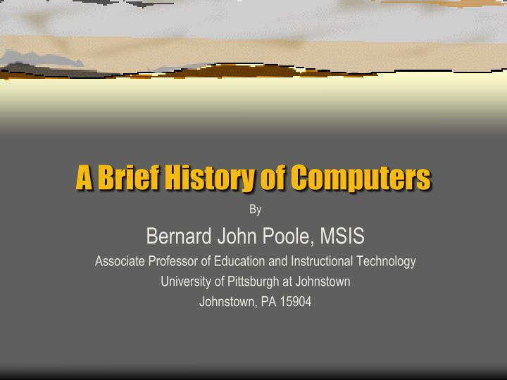 a brief history of computers n.