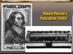 blaise pascal s pascaline 1645