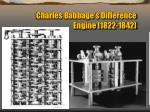 charles babbage s difference engine 1822 1842