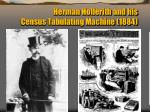 herman hollerith and his census tabulating machine 1884