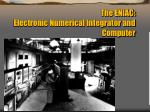 the eniac electronic numerical integrator and computer