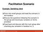 facilitation scenario