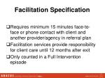 facilitation specification