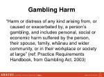 gambling harm
