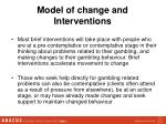 model of change and interventions