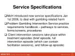 service specifications