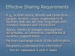 effective sharing requirements