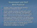 government and dod best practices