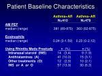 patient baseline characteristics