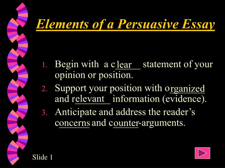 elements of an effective argument essay